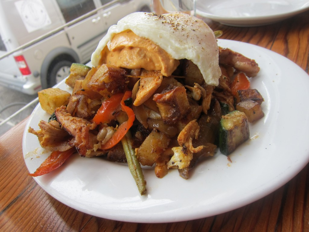 was the Burmese red pork stew over rice and eggs two ways ($9