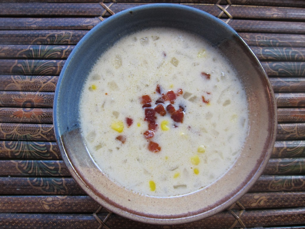 Miso-Bacon-Corn Soup